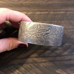 Salisbury pewter cuff bracelet